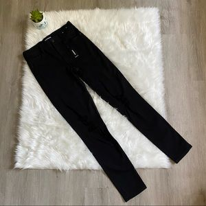 Express black distressed ripped skinny jeans 2 R